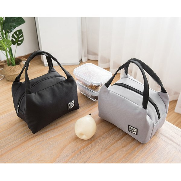 2019 New Insulated Canvas Box Tote Bag Thermal Cooler Lunch Bags For Women Kids Men Wholesale Free Shipping