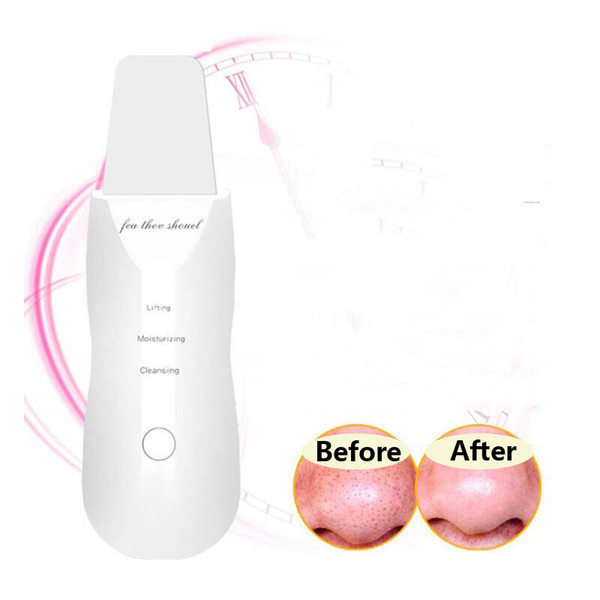 U b rechargeable ultra onic face kin crubber facial cleaner peeling vibration blackhead removal exfoliating pore cleaner tool