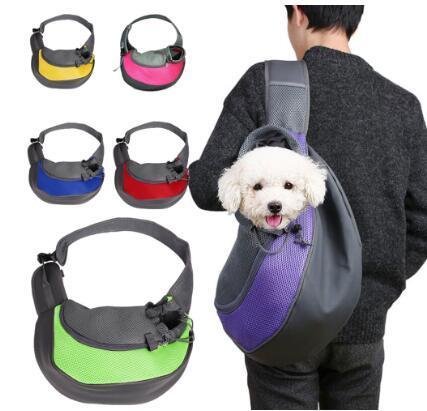 Pet Puppy Carrier Открытый Путешествие сумка мешок сетки Оксфорд Одно плечо сумка слинг сетки Комфорт путешествия Tote сумки на ремне
