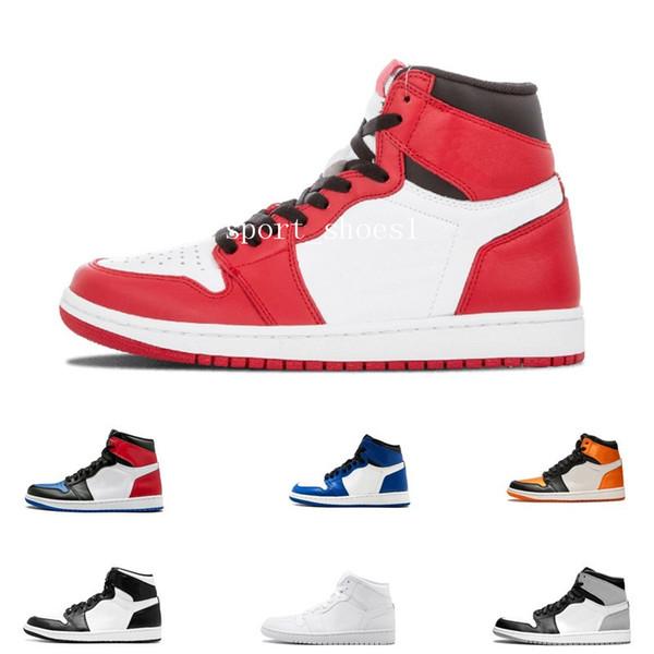 Moda 1 OG Prohibido dedo del pie Bred 1s Spider-Man 3 UNC superior para hombre de los zapatos de baloncesto homenaje de Inicio del azul real de los hombres zapatillas de deporte Deportes Diseñador EUR 36-47