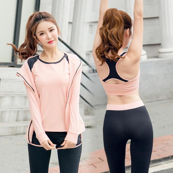 2019 Yoga Sets Sports Suit Women Workout Gym Clothes T Shirt Bra Hoodies Shorts Leggings Set Yoga Suit Sport Jumpsuit #756990 From Jerseylink, $96.45