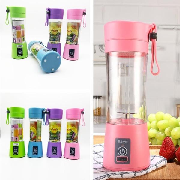 Persönliche Mixer Portable Mixer USB Juicer Cup Elektrische Juicer Flasche Obst Gemüse Werkzeuge 4 Farbe I534