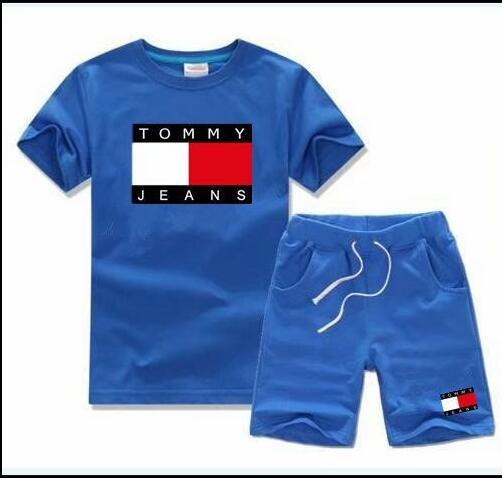2018 HOT SELL New Style Children's Clothing For kids Boys And Girls Sports Suit Baby Infant Short Sleeve Clothes Kids Set 2t-8t