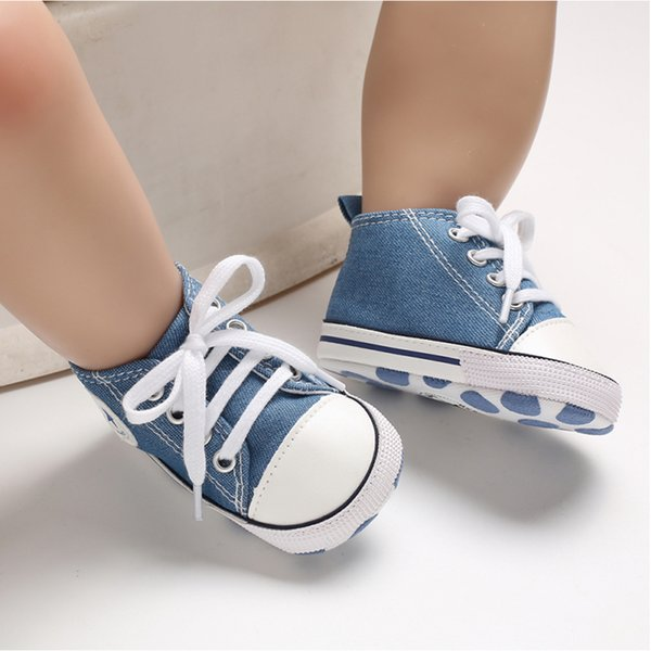 Summer Hot Baby Toddler Boys Girls Crib Shoes Canvas Tennis Shoes Kids Skater Sneakers