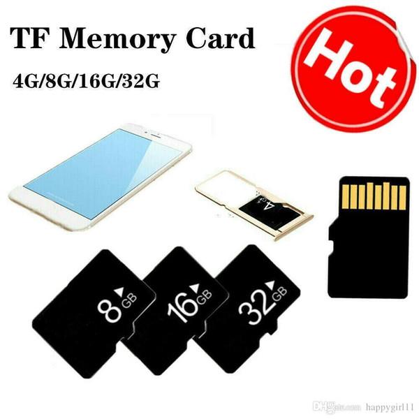 Felice 100% REALE Capacità 4G 8 GB 16 GB 32 GB Class10 SD SDHC TF Flash Memory Card Veloce per fotocamera + adattatore SD