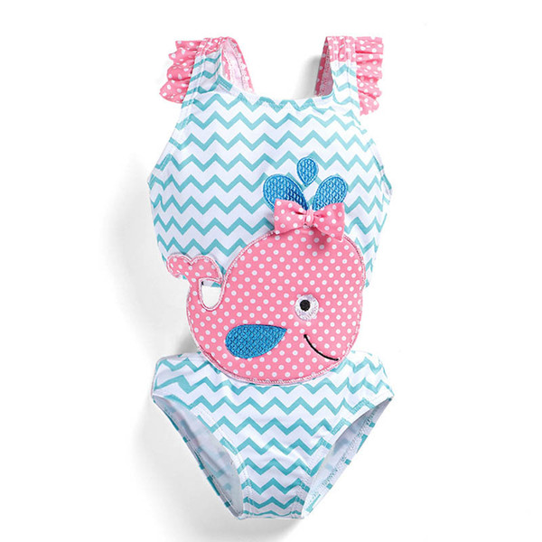 best selling New 2019 cute Kids Swimwear One-piece Girls Swimsuit Kids Swim Suits Girls Bikini Kids Bathing Suits Child Sets Beachwear A4368