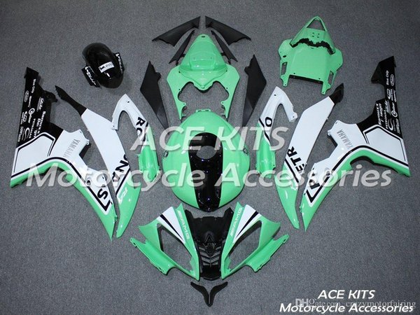 ACE KITS Motorcycle fairing For YAMAHA YZF R6 2008-2016 Injection or Compression Bodywork shocking Peppermint Green +TANK NO.2282