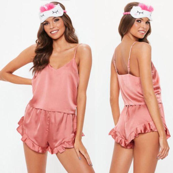 2018 Women Sexy Lingerie Babydoll Sleepsuit Pajamas Underwear Nightwear Sleepwear