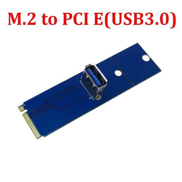 PCI Express pci-express PCI-E USB 3.0 portu Kadın NGFF M.2 M Erkek Ağ Adaptörü Dönüştürücü Kart Dönüşüm adaptörü Anahtar 2280