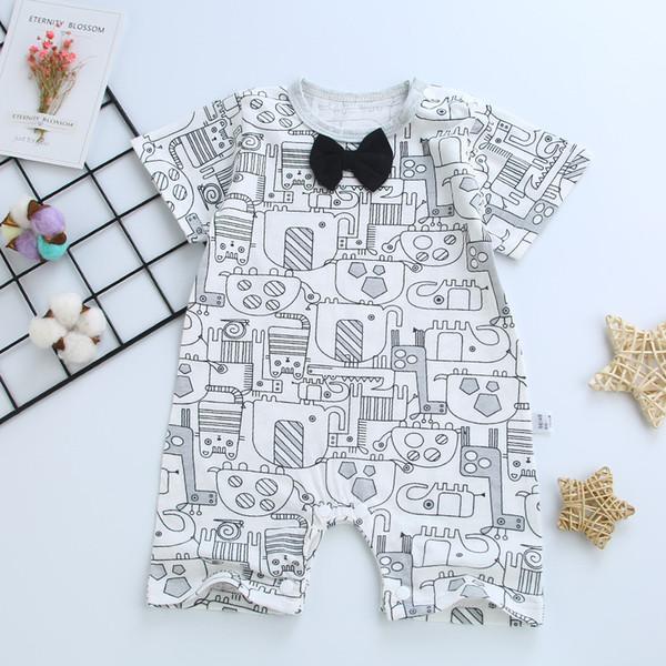 Mode monsieur bébé barboteuses coton bébé garçon filles vêtements manches longues vêtements nouveau-nés infantile combinaisons une pièce vêtements