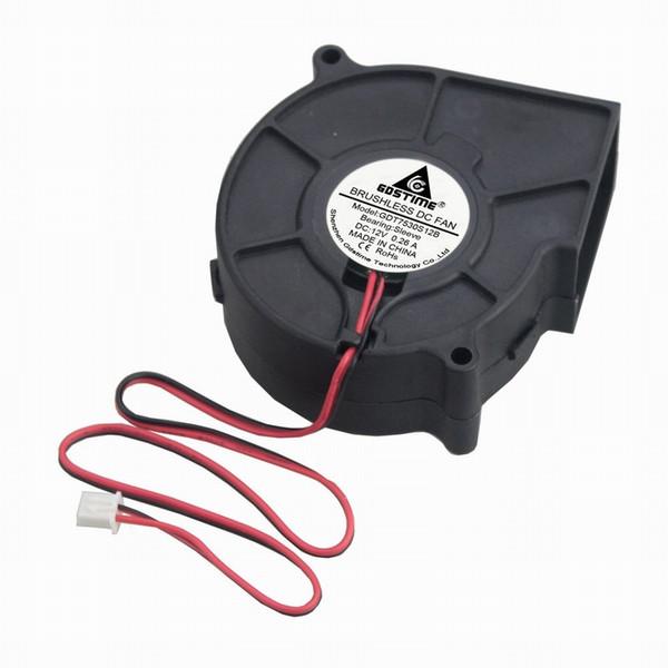 cooling blower Gdstime 1 Pcs 12V 75x30mm Brushless DC Cooling Blower Fan 75mm Motor Fan 12 Volt 2 Wire 2 Pin 7530