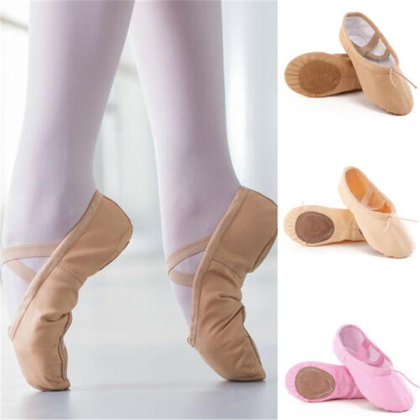 2//3 Pack Leather Ballet Shoes Canvas Ballet Slipper//Ballet Shoe//Yoga Dance Shoe for Girls//Toddlers//Kids