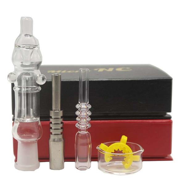 Confezione regalo Kit tubi per acqua in vetro a mano Miele Dab Straw Oil Rig 14mm Quarzo Titanio Punte per unghie Tubi per acqua in vetro fumatore a mano Gorgogliatore