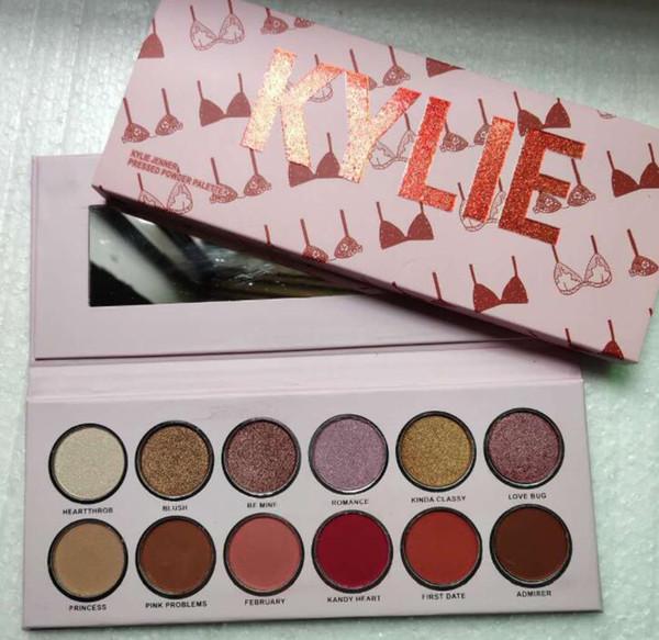 12 colores de maquillaje paleta de sombra de ojos en polvo de la perla mate paleta de sombra de ojos kit de herramientas de maquillaje resistente al agua GGA1819