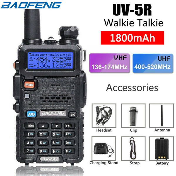 best selling BaoFeng Walkie Talkie UV-5R UV5R Dual Band 136-174Mhz 400-520Mhz Two Way Radio Transceiver with 1800mAH Battery US Stock