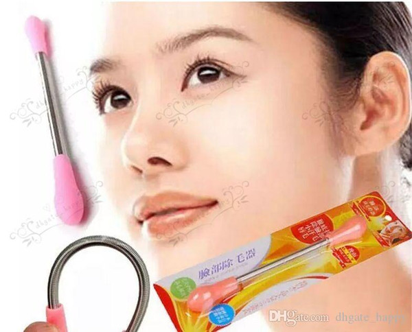 Candy Color Face Facial Hair Spring Remover Stick Removal Threading Nice Tool Epilator Face Tool By DHL Free Shipping-01