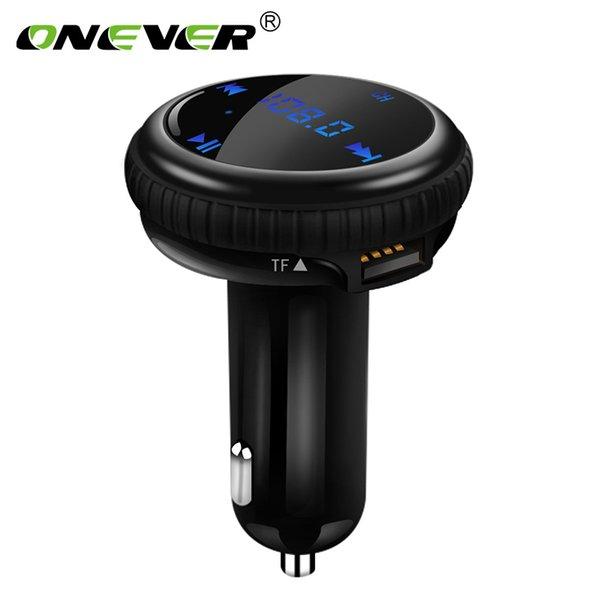 Onever FM-передатчик Bluetooth-модулятор Автомобильный комплект громкой связи с GPS-навигатором Отслеживание местоположения MP3 Аудиоплеер USB зарядное устройство LED