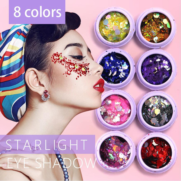 best selling Holographic Sequins Glitter Shimmer Loose Powder Pigment Tattoo Glitter Makeup Body Glitter Festival Make Up Eye Shadow