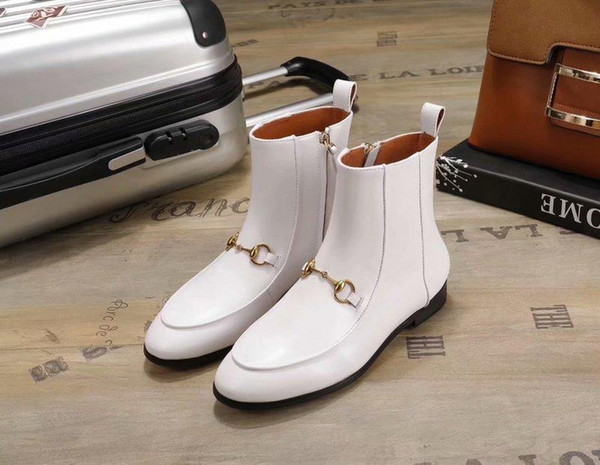18ss Italian Autumn Winter Shoes Woman Knee High Boots Designer Knight Boots Leather Plus Size 42 Motorcycle Combat Botas