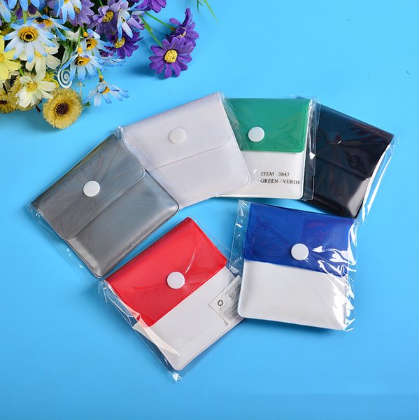 Venta al por mayor Pocket Ashtray Bag EVA / PVC Cigarette Ash Bag Case Mini Square Smokless Multicolor Portable Eco-friendly Fastener Design Ashtays