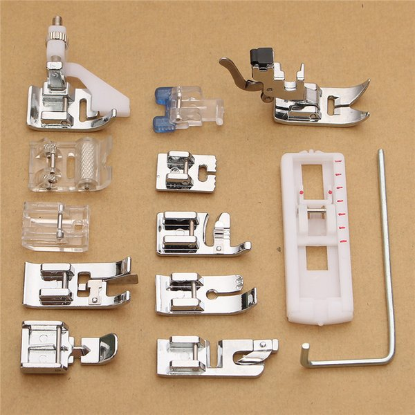 Wholesale 13Pcs Electric Sewing Machine Low Shank Presser Feet Attachments Set for Supplies Walking Foot Kit
