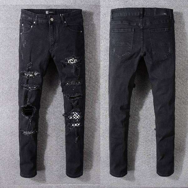 Men's Fashion Street Style Jeans Designer Men's Distressed Classic Denim Brand Jeans New Arrivals