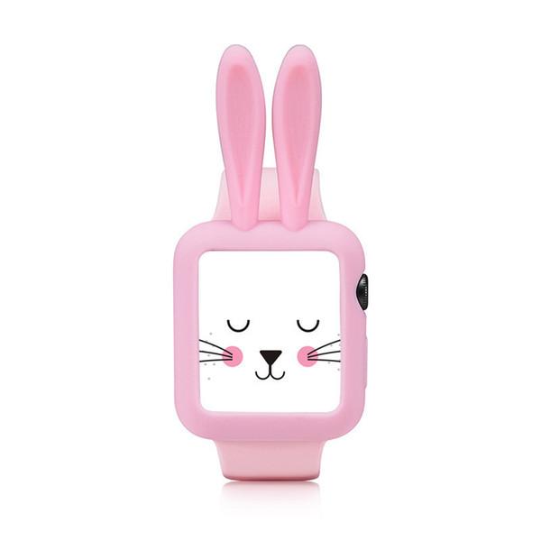 Cartoon Rabbit Silicone Case für Apple Watch 3/2/1 Protector Weiche TPU-Hülle für iWatch Series3 Kids Stoßfeste Anti-Drop-Shell