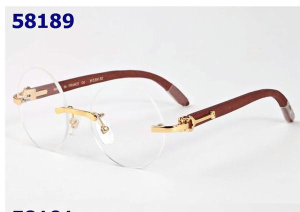 Frauen Mode optische Brillengestell Designer Brillen Brille Quadrat meatl Rahmen Brillengestell kommen mit roter Box 6205247