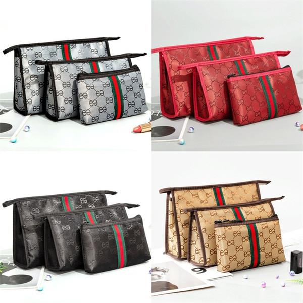 Kit de bolsa de cosméticos de almacenamiento de bolso de tres piezas Suite Bolsas de maquillaje multifunción Set Venta caliente Nuevo llega 16 5zp J1