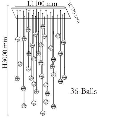 36 헤드 L110 * W37cm 직사각형