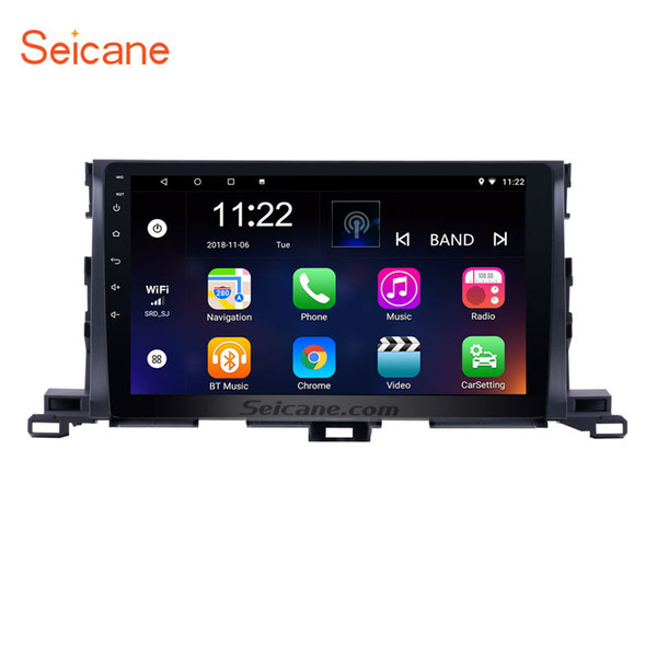 Android 8.1 10.1 inch Touchscreen Car Radio GPS Navigation for 2015 Toyota Highlander with WIFI Mirror link support Steering Wheel Control