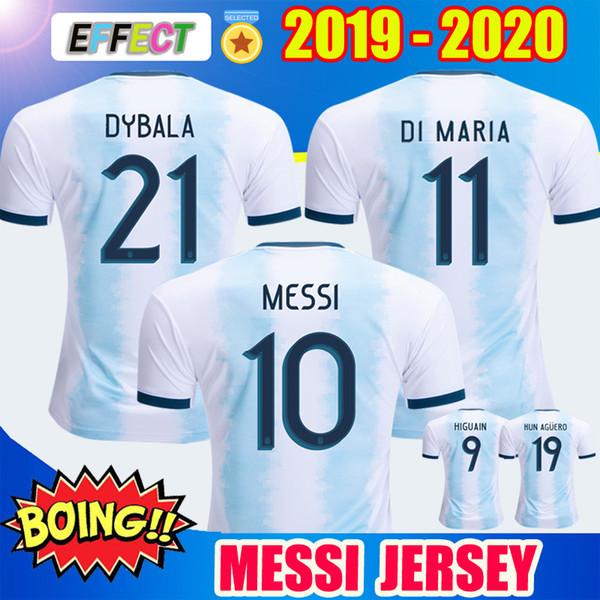 Thailandia 2019 Argentina Calcio Maglie Copa America 2020 squadra nazionale MESSI DYBALA HIGUAIN ICARDI Camisetas de futbol calcio Camicie Kit
