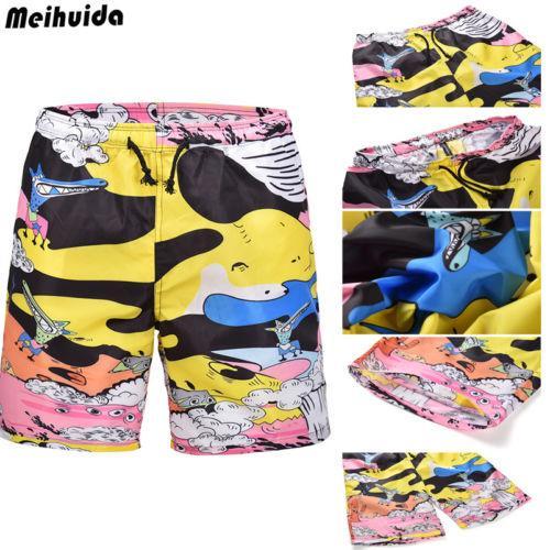 Sıcak Satış Erkekler Yıkanma Şort Graffiti Casual Beachwear Yaz Sörf Mayo Erkekler Kurulu Shorts yazdır