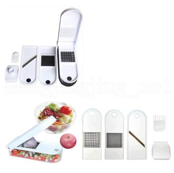 Multifunction Vegetable Chopper Slicer Cutter Potato Onion Chopper With Container Quick Dicer Onion Chopper Cutter with box LJJK1545