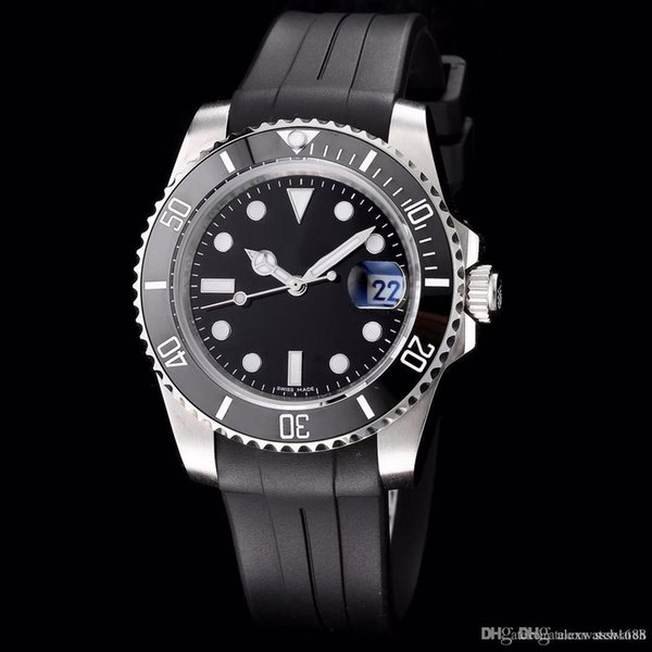 Watch Ceramic Bezel 116655 Style 18CT Silver Automatic Movement Sapphire Rubber Strap Wrist Watches on sale