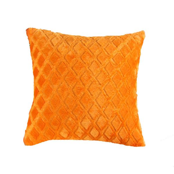 10pcs 13styles Short plush cushion pillow cover plain color cushion sofa cushion cover gift,size 43cm*43cm