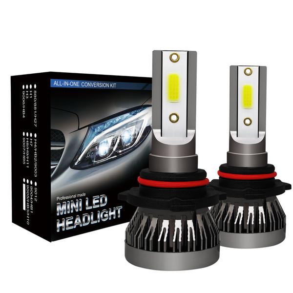 2PCS Drop Shipping Car LED Lights Bulbs 9012 9006 9005 H1 H7 H11 H4 LED Headlight Conversion Kit COB Bulb 90W 12000LM White