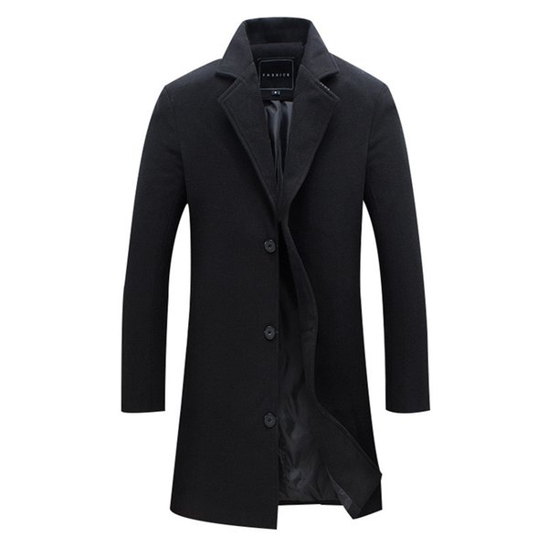 New Men Wool Blends Suit Design Wool Coat Men Casual Trench Coat Design Slim Fit Office Suit Jackets Drop Shipping