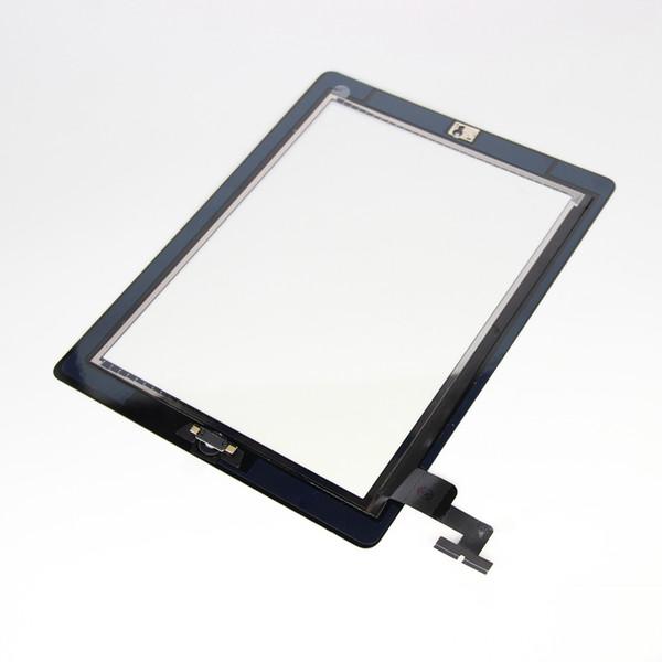 Ersatz-Touchscreen für iPad 2 Touch Digitizer-Bildschirme IC-Starttaste Flexkabel Komplette Baugruppe für iPad 2