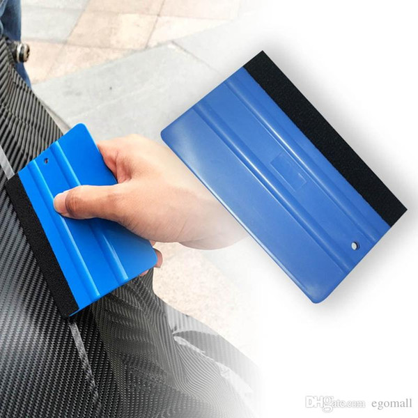 Car Vinyl Film wrapping tools Blue Scraper squeegee with felt edge size 13cm*8cm Car Styling Stickers Accessories