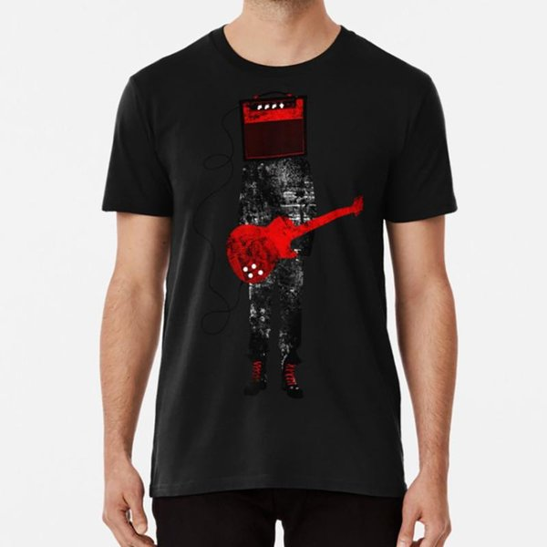Amplified T camisa guitarra música roqueiro heavy metal legal músico