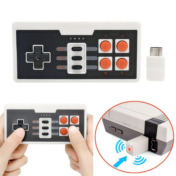 Drahtlose Gamepads 2,4 GHz Joypad Joystick-Controller für NES Classic MINI Console Remote-Zubehör
