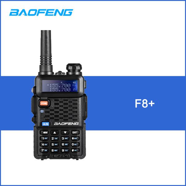BAOFENG F8 + Walkie Talkie VHF / UHF Transceptor de mano de doble banda Interfono con LCD Receptor de radio FM Tecla de inicio DTMF Codificar