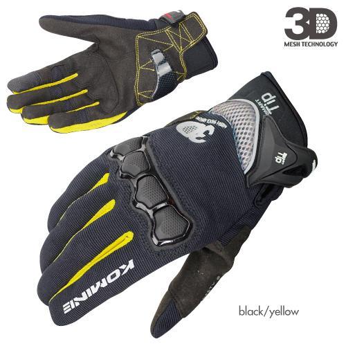 Été 2018 Gants d'équitation Komine Gk162 3d Mesh Technology 3d Moto / moto / moto Les gants de course ont des couleurs Taille M L Xl MX190817