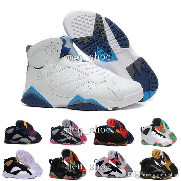 men Box]air Jump [With 7 VII mans basketball shoes raptor guyz Hares Olympic Bordeaux GG Cardinal Raptor French BRED gold shoes