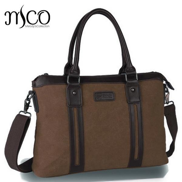 MCO Men Canvas vintage Casual Briefcase Business Shoulder Bag Messenger Bags Computer Laptop Handbag Bag Men's Travel Bags #630471