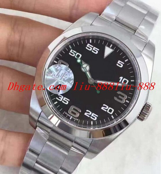 JF Mens Watch Automatic 39mm Sapphire Wristwatches Stainless Steel Black Arabic Face 116900 NEW 3132 Sport Full Steel Eta Watches