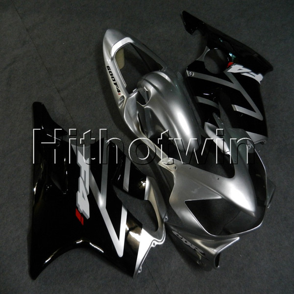 Botls + Gifts Moldeo por inyección de plata funda de motocicleta negra para HONDA CBR600F4i 2001-2003 F4i 01 02 03 plástico ABS Carenado
