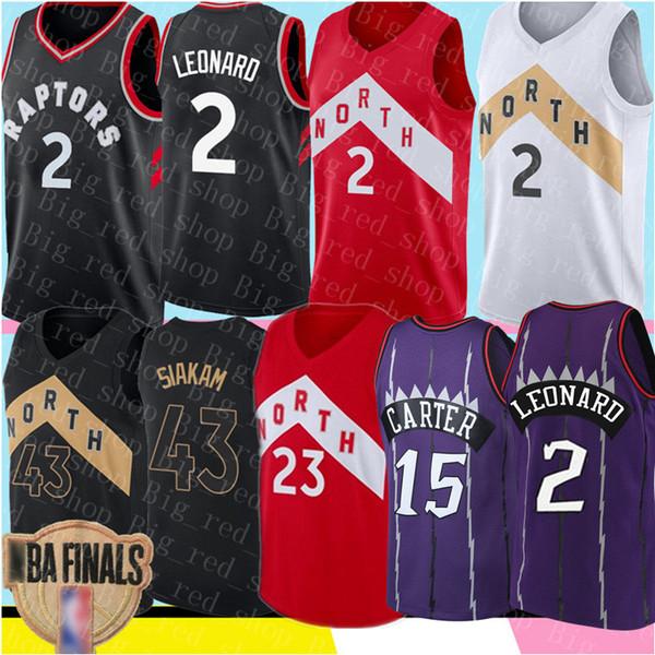 NCAA Kawhi 2 Leonard Jersey College 43 Siakam Retro Mesh Vince 15 Carter Marcus 21 Camby Fred23 VanVleet Basketball Jerseys