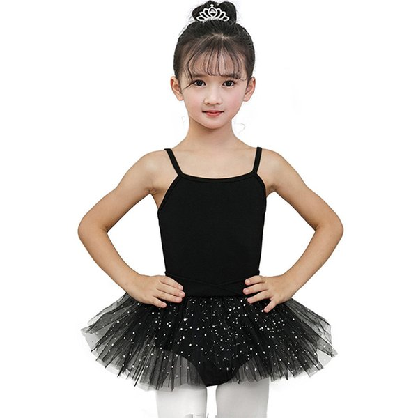 Gymnastique Justaucorps Filles Ballerine Tutu Robe Pour La Performance Jupe Ballet Vêtements Vêtements De Danse Avec Des Jupes En Mousseline De Soie
